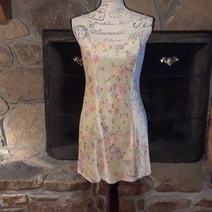 Victoria's Secret silk, floral slip gown